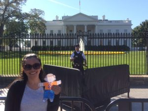 Francisca with Flat Stanley at very famous location in Washington D. C. !